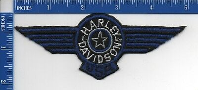 "Authentic HARLEY-DAVIDSON USA Blue Fat Boy patch NOS 2"" X 5"""