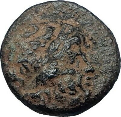 ANTIOCHOS I Soter 281BC Seleukid RARE R2 Ancient Greek Coin THUNDERBOLT i67982