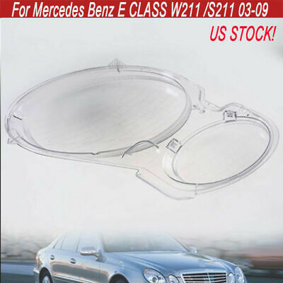 Headlight Clear Lens Cover Replacement For MERCEDES BENZ E CLASS W211 2002-2008
