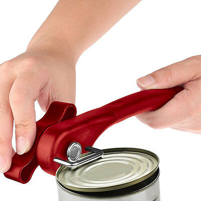 Ergonomic Manual Can Opener Cans Lid Lifter Smooth Edge Side Cut Home Kitchen~~~