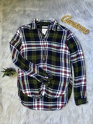 624054b60332a AMERICAN EAGLE OUTFITTERS Ahh - mazingly Soft Boyfriend Fit Plaid Button  Down
