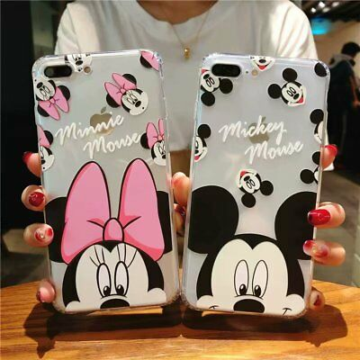 Cartoon Mickey Mouse Minnie Case for iPhone X 8 7 6 + Soft TPU Shockproof Cover