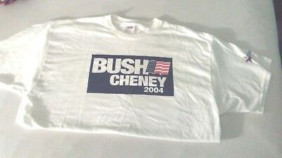 2004 BUSH CHENEY Election Campaign T-Shirt XL Hanes Harris Country Republicans