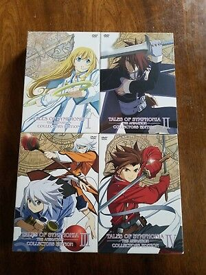 Tales of Symphonia The Animation Anime Collectors Edition DVD Vol. 1, 2, 3, 4