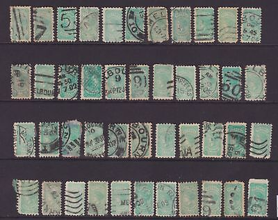 VICTORIA 1901-05 1/2d Green X44 STAMPS LOT FINE USED  SG 384  (DM117.7)