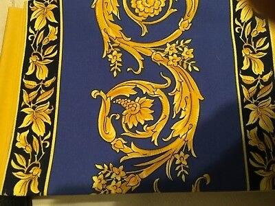 $300 VERSACE Medusa blue PILLOW CASE FOR KING BED  NEW DISCONTINUED RARE 1