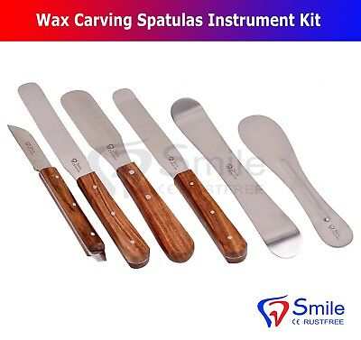 PLASTER & ALGINATE WAX KNIFE MIXING SPATULA SET DENTAL LABORATORY TOOLS Smile UK