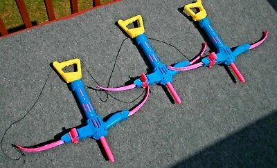 Vintage NERF Bow n Arrow (1991) LOT of 3 RARE HTF TESTED Party Pack Crossbow