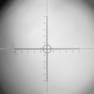 Microscope Eyepiece Micrometer Cross Ruler DIV 0.1mm Calibration X=Y=10mm Scales