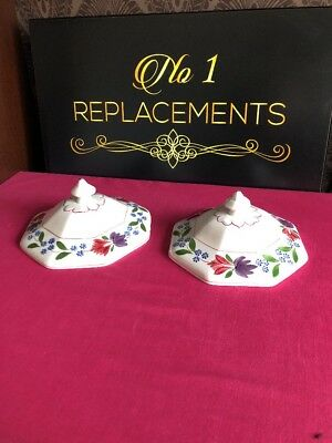 2 x Adams Old Colonial Replacement Dish Tureen Lids 18cm Wide