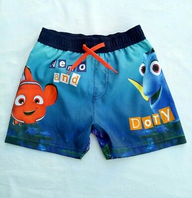 Disney Pixar Boys Boardshorts Size 4 - 5 Finding Nemo Dory Boardies Swim Shorts