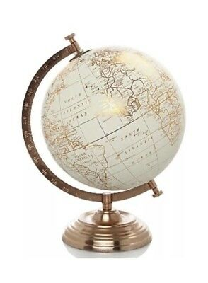 Vintage Copper Spinning Globe Atmosphere World Map 28cm Shabby Chic Over 50% Off