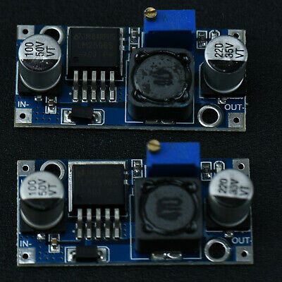 2x LM2596 DC-DC Adjustable Step Down Power Module 7V-35V to 1.25V-30V 3A DC-DC