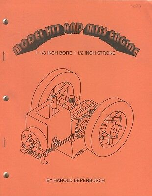 """Model Hit and Miss Engine 1 1/8"""" bore 1 1/2"""" Stroke by H. Depenbusch"""