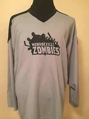 Kevin Smith Monroeville Zombies V.1 2XL Printed Air Knit Ice Hockey Jersey
