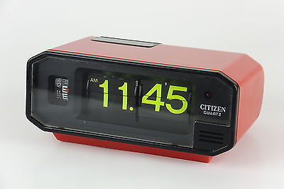 CITIZEN Battery Flip Clock RED