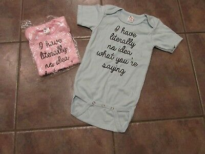 New Boy/Girl Twin Bodysuit 12-18 mo I have literally no idea what you're saying