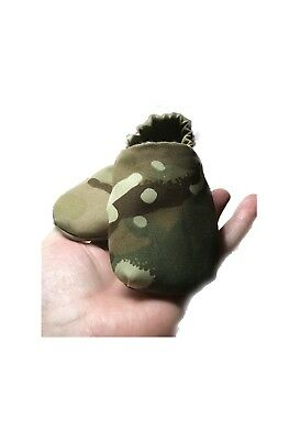 British Army Camouflage Baby Slippers, British Army Baby, Baby Slippers