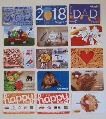 Collectible Gift Card LOT of 15 Diff- FOOD LION Happy Bites Dad's Day No $ Value