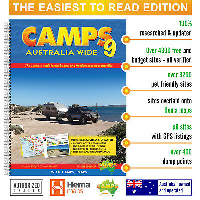Camps 9 with Camps Snaps the Easiest to Read: Large B4 hard cover spiral bound