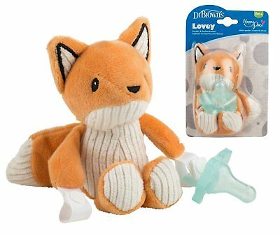 Dr. Brown's - Franny the Fox Lovey Pacifier & Teether Holder