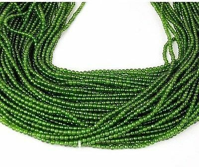 "5 Strands Natural Taiwan Green Jade Rondelle 2mm 15"" Long Smooth Gemstone Beads"