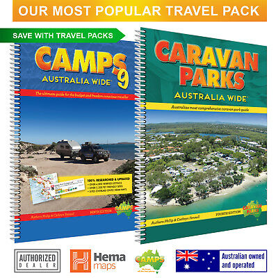 Economy Travel Pack our most popular set incl CAMPS 9 book(A4) & Caravan Parks 4