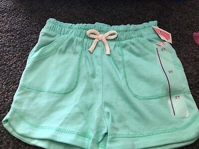Toddler Girl Soft Green Cotton Shorts by Circo - Sz 2T - NEW