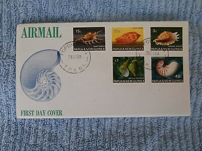 Papua & New Guinea First Day Cover - Shells (Series 2)