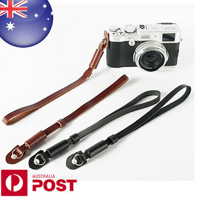 Leather Camera Hand Wrist Strap for Canon Nikon Olympus Sony M4/3 Cameras Z761