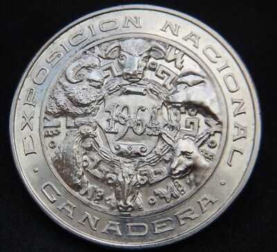 MEXICO SILVER MEDAL NATIONAL LIVESTOCK EXHIBITION 1964 2nd PLACE