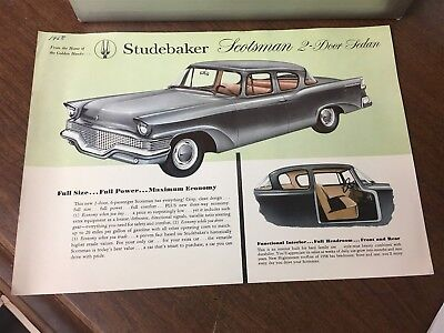Original 1958 Studebaker Scotsman 2 Door Sedan Spec Sheet