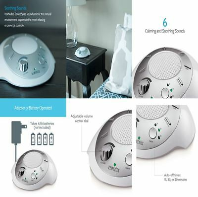 White Noise Machine Portable Sleep 6 Naturel Sounds For Baby Adult Timer Therapy