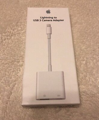 Apple Lightning to USB 3 Camera Adapter MK0W2AM/A (Model A1619) OEM