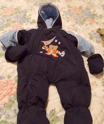 Okie Dokie Infant Baby Boy Snowsuit Size 6-9 Monthes