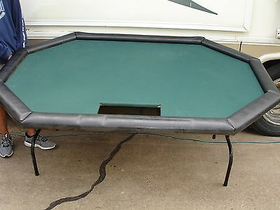 "Full Size Poker Table 76"" x 52"" x 30"" tall"