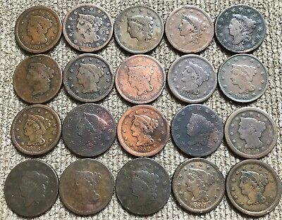 20 mixed grade Large Cents - Lot 2
