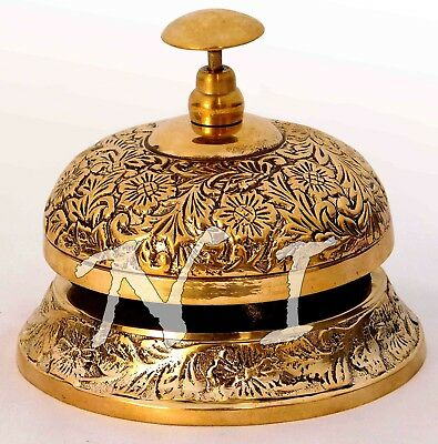 Old Victorian Antique Style Service Desk Office Bell Ornate Hotel Counter