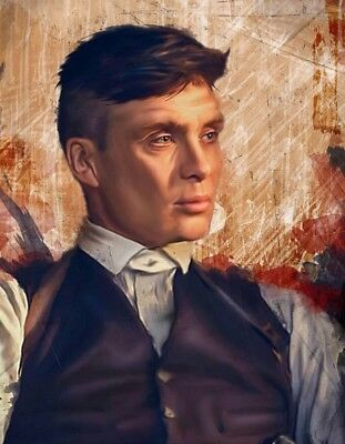 """Peaky Blinders Tommy Shelby oil painting printed Wall Art Canvas 22"""" X 16"""""""