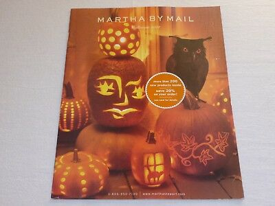 Martha By Mail catalog - HALLOWEEN 2001 - Good Condition - Fall Craft Catalog