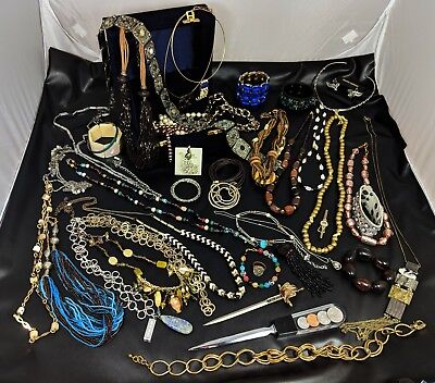 Gorgeous  Lot Of Vintage Jewellery *All Wearable*  WITH Jewellery BOX