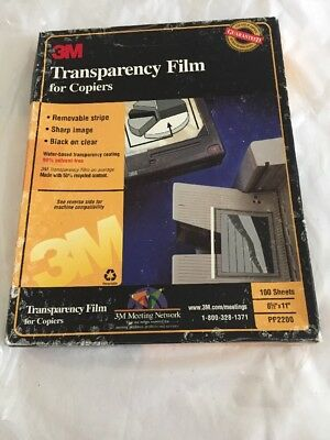 "3M Transparency Film For Copiers 100 Sheets 8.5"" x 11"" PP2200"