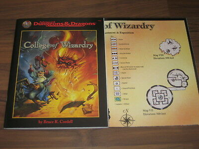AD&D 2nd Edition College of Wizardry Accessory 1998 TSR 9549 SC