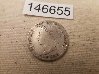 1888 Canada Twenty Five Cents Nice Collector Grade Raw Album Coin - # 146655