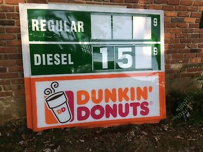 Duncan Donuts Hess toy truck gas sign service station