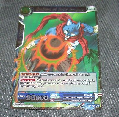 Burgeoning Power Bergamo BT3-103 UC FOIL Dragon Ball Super TCG NEAR MINT
