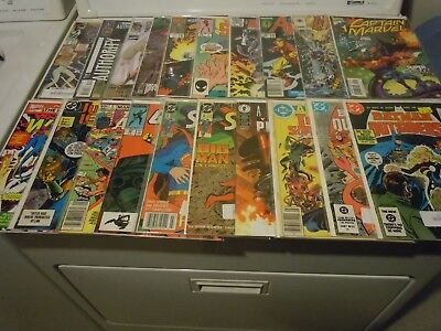 LONG BOX Lot of Comics - 200 Total - DC, Marvel and others - Bags and Boards