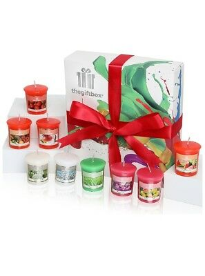 A Luxurious Scented Candles Gift Set by The Gift Box Containing 9 candles