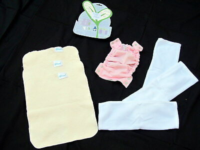 Sprout Change Cloth Diaper One Size Smoothie Pink Green v2 Starter Kit