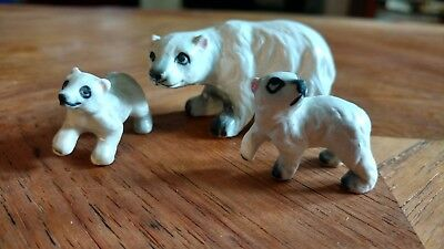 Vintage lot bone china polar bear winter white animal figurines arctic